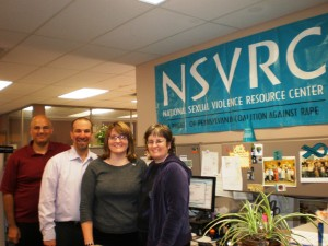 Chad Sniffen and David Lee with Jennifer Grove and Karen Baker of the National Sexual Violence Resource Center